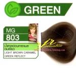 ครีมเปลี่ยนสีผม ดีแคช มาสเตอร์ แมส คัลเลอร์ครีม Dcash Master Mass Color Cream MG 803 น้ำตาลอ่อนคาราเมลอมเขียว ( Light Brown Caramel Green Reflect) 50 ml.