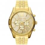 นาฬิกาข้อมือ Michael Kors รุ่น MK8281 Michael Kors Men's Chronograph Lexington Gold-Tone Stainless Steel Bracelet Watch MK8281
