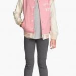 H&M : กางเกงขายาว สีเทา คล้ายเลกกิ้ง ผ้าหนาค่ะ (งานช้อป) Size : 11-12y
