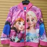 Disney : เสื้อแจ็คเก็ทมีฮูด พิมพ์ลายเจ้าหญิงแอนนา เอลซ่า สีชมพู (ลิขสิทธิ์ไทย) size : 8 (8-9y)