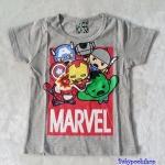 เสื้อ Marvel สีเทา ตัว (Iron man นูนขึ้นมา) size : 90 / 100 / 110 / 120