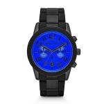 นาฬิกาข้อมือ Michael Kors รุ่น MK8326 Michael Kors Mercer Black Tone Stainless Steel Bracelet Blue Face Chronograph Watch MK8326 Size 45 mm