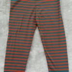 Polo : เลคกิ้งลายริ้ว สีเขียวส้ม ผ้าดี นิ่ม มากค่ะ size 4-6y