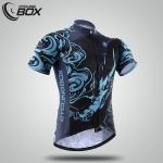 เสื้อจักรยานแขนสั้น Cyclingbox สี่สัตว์เทพ สีดำฟ้าลายมังกร สั่งจอง (Pre-order)