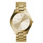 นาฬิกาข้อมือ Michael Kors รุ่น MK3179 Michael Kors Slim Runway Gold-Tone Stainless Steel Bracelet Watch MK3179 Size 42 mm
