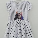 H&M : เดรส สกรีนลาย Frozen สีขาวลายจุด size 1.5-2y
