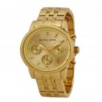 นาฬิกาข้อมือ Michael Kors รุ่น MK5676 Michael Kors Women's Chronograph Diamond Set Dial Bracelet Watch Gold Watch MK5676 Size 36 mm