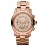 นาฬิกาข้อมือ Michael Kors รุ่น MK8096 Michael Kors Rose Gold Oversize Runway Watch MK8096 Size 45 mm