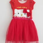 H&M : เดรส สกรีนลาย หน้า Hello Kitty กระโปรงตาข่าย สีแดง (งานติดป้ายผิด) size : 1-2y / 2-4y / 4-6y / 6-8y / 8-10y