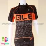เสื้อจักรยานผู้หญิงแขนสั้น ALE 16 (05) สีดำส้มลายฟองน้ำ