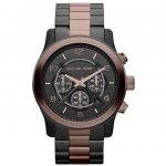 นาฬิกาข้อมือ Michael Kors รุ่น MK8266 Michael Kors Large Runway Black Dial Two Tone Chronograph Watch MK8266 Size 45 mm