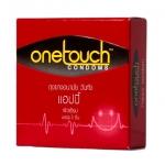 Onetouch Condoms ถุงยางอนามัย วันทัช แฮปปี้ ผิวเรียบ (บรรจุ 3 ชิ้น) - 52 มม.