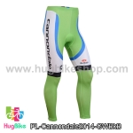 กางเกงจักรยานขายาวทีม Cannondale 14 เขียวขาวดำฟ้า สั่งจอง (Pre-order)