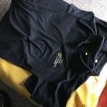 เสื้อโปโลสีดำ ราคาโรงงาน พร้อมสกรีน 3 สี 2 ตำแหน่ง