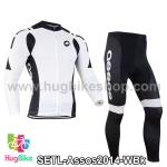 ชุดจักรยานแขนยาวทีม Assos 14 สีขาวดำ