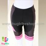 กางเกงจักรยานผู้หญิงขาสั้น ALE 16 (07) สีดำแถบชมพู