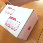 กล่องไปรษณีย์ ไดคัท เบอร์ ง ขนาด 35 X 22 X 14 cm. ใบละ 14 บาท