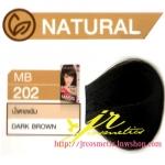 ครีมเปลี่ยนสีผม ดีแคช มาสเตอร์ แมส คัลเลอร์ครีม Dcash Master Mass Color Cream MB 202 น้ำตาลเข้ม (Dark Brown) 50 ml.