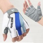 ถุงมือจักรยานครึ่งนิ้ว รุ่น PEARL IZUMI สีขาวฟ้า