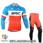 ชุดจักรยานแขนยาวทีม BMC 14 สีฟ้าขาวแดง สั่งจอง (Pre-order)