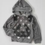 H&M : เสื้อแจ็คเก็ทกันหนาว มีฮูด ลายหมี สีเทาเข้ม ผ้าไม่หนามาก size : 1-2y / 2-3y / 3-4y / 4-5y