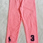 POLO : เลคกิ้งสีโอรส สดใส ปัก ม้าตัวโต&3 size 2-4y