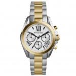 นาฬิกาข้อมือ Michael Kors รุ่น MK5912 Michael Kors Bradshaw Chronograph Silver Dial Two-tone Ladies Watch MK5912 Size 35 mm