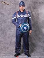 เช่าชุดแฟนซี &#x2665 ชุดแฟนซี ชุดซุปเปอร์ฮีโร่ Caption America ชุดสีน้ำเงิน จากตอน The Winter Soldier