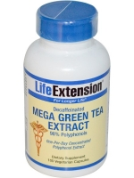Life Extension, Mega Green Tea Extract, Decaffeinated, 100 Veggie Caps