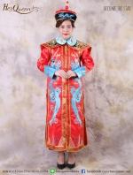เช่าชุดแฟนซี &#x2665 ชุดแฟนซี ชุดฮองเฮา เซ็ทใหญ่ - สีแดง มังกรฟ้า