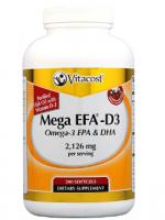 Vitacost Mega EFA-D3 Omega-3 EPA & DHA Fish Oil -- 2,126 mg per serving