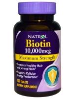 Natrol Biotin 10,000 mcg 100 Tablet