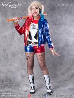 เช่าแฟนซี &#x2665 ชุดแฟนซี ชุด Harley Quinn แห่งทีม Suicide Squad สาวน้อยอดีตแฟน Joker