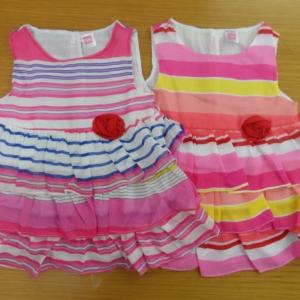 ชุดเด็กหญิง แบรนเนม carter,s size 12-18-24 เดือน ขายส่งยกแพ็ค 6 ชุด คละสีในแพ็ค ราคา 810 บาท