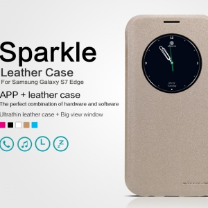 เคสมือถือ Samsung Galaxy S7 Edge รุ่น Sparkle Leather Case