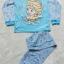 DIsney : ชุดนอนแขนยาว + ขายาว สีฟ้า ลายดอกไม้ Elsa Size : 12(10-12y) thumbnail 1
