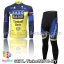 ชุดจักรยานแขนยาวทีม Tinkoff SAXO 13 สีน้ำเงินเหลือง