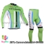 ชุดจักรยานแขนยาวทีม Cannondale 14 สีเขียวขีดขาวดำฟ้า