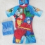 Marvel : ชุดว่ายน้ำบอดี้สูทลาย Assemble สีฟ้า ซิปหน้า พร้อมหมวกและ ถุงผ้า Size : XS (3-4y) thumbnail 1