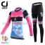 ชุดจักรยานผู้หญิงแขนยาวขายาว CheJi 15 (05) สีชมพูดำฟ้าลายผีเสื้อ thumbnail 1