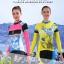ชุดจักรยานผู้หญิงแขนยาวขายาว CheJi 15 (10) สีเหลืองน้ำเงิน ลายผีเสื้อ สั่งจอง (Pre-order) thumbnail 4