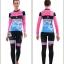 ชุดจักรยานผู้หญิงแขนยาวขายาว CheJi 15 (05) สีชมพูดำฟ้าลายผีเสื้อ thumbnail 13