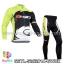ชุดจักรยานแขนยาวทีม Sidi ปี 14 สีเขียวขาวดำ