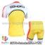 ชุดจักรยานแขนสั้น โอตาคุน่องเหล็ก Sohoku สีเหลืองขาวแดง thumbnail 2