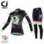 ชุดจักรยานผู้หญิงแขนยาวขายาว CheJi 16 (05) สีดำเขียวชมพู ลายกระโหลก Recing is life thumbnail 1