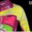 ชุดจักรยานผู้หญิงแขนยาวขายาว CheJi 15 (06) สีชมพูลายเหลือง thumbnail 7