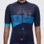 เสื้อจักรยานแขนสั้นทีม MAAP 16 (23) สีน้ำเงินเข้มลายฟ้า