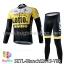 ชุดจักรยานแขนยาวทีม Bianchi 15 (01) สีเหลืองขาวดำ