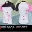 ชุดจักรยานผู้หญิงแขนสั้นขาสั้น CheJi 14 (09) สีขาวดำชมพู สั่งจอง (Pre-order) thumbnail 4