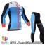 ชุดจักรยานแขนยาวทีม Castelli 14 สีฟ้าขาวดำ
